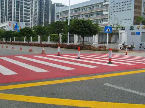 交通道路设施进步的标识|彩色陶瓷防滑颗粒的运用