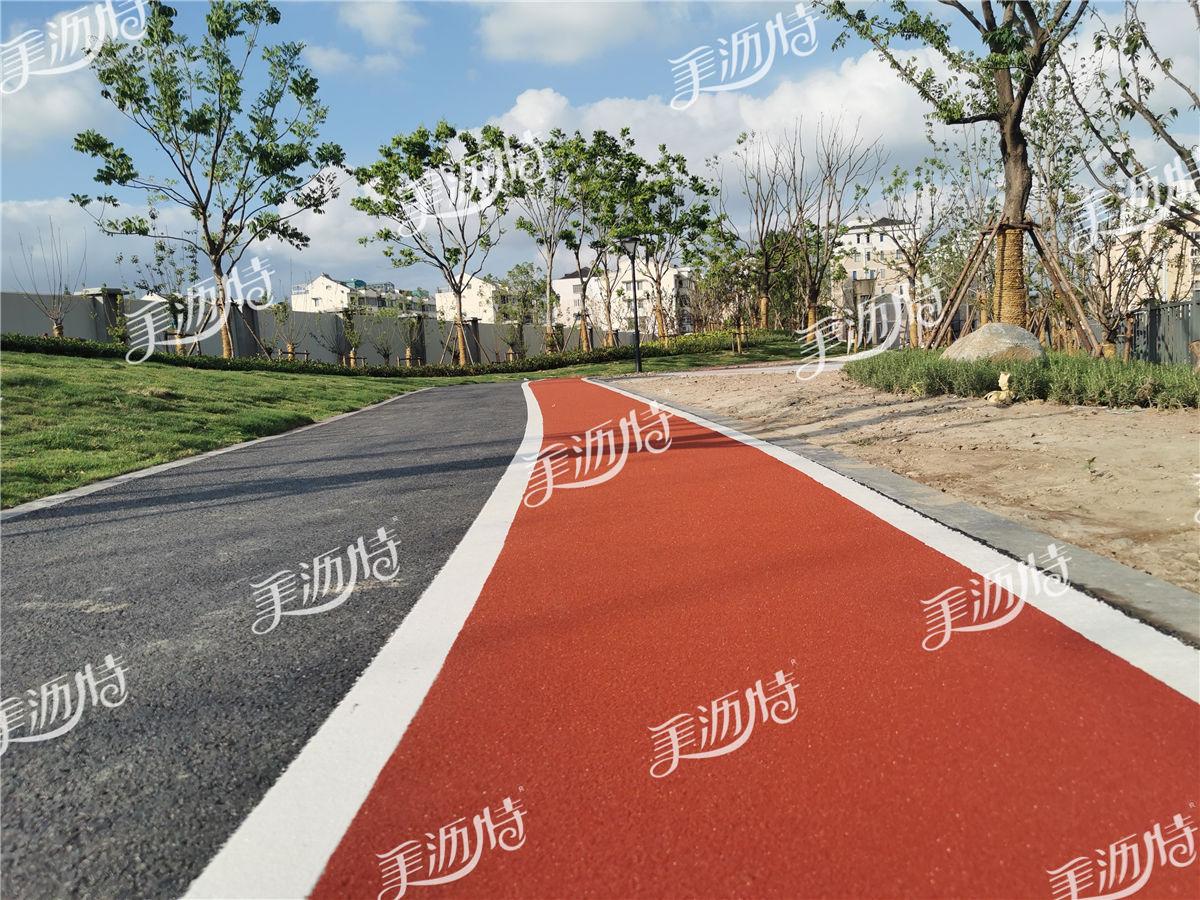 行车道彩色陶瓷颗粒防滑路面
