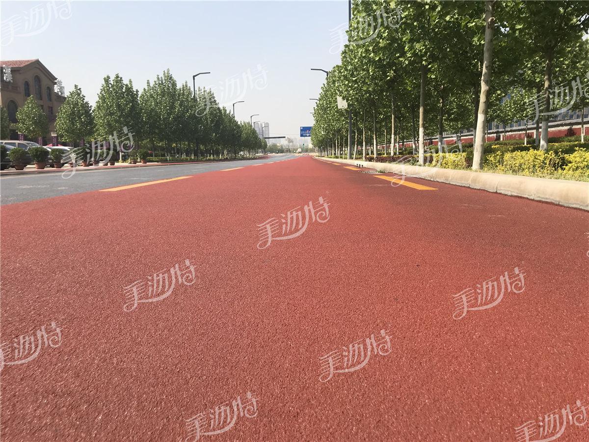 彩色防滑路面的功能及工程特性和施工流程