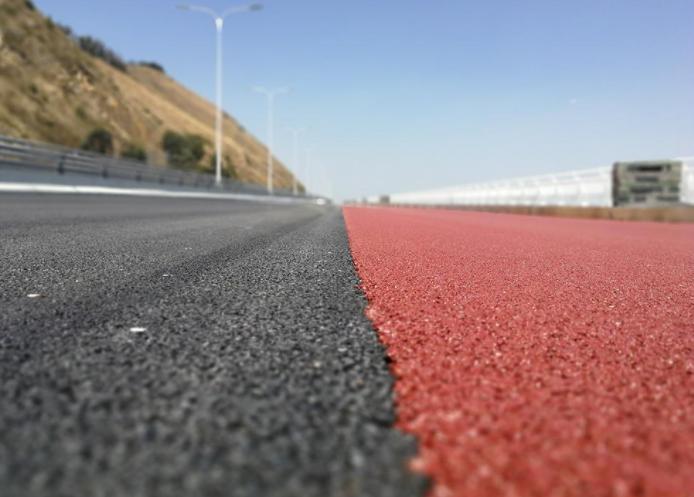 陶瓷颗粒彩色防滑路面,彩色防滑路面,防滑路面