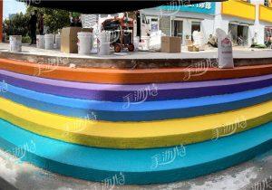 彩色防滑路面粘合剂的施工流程顺序