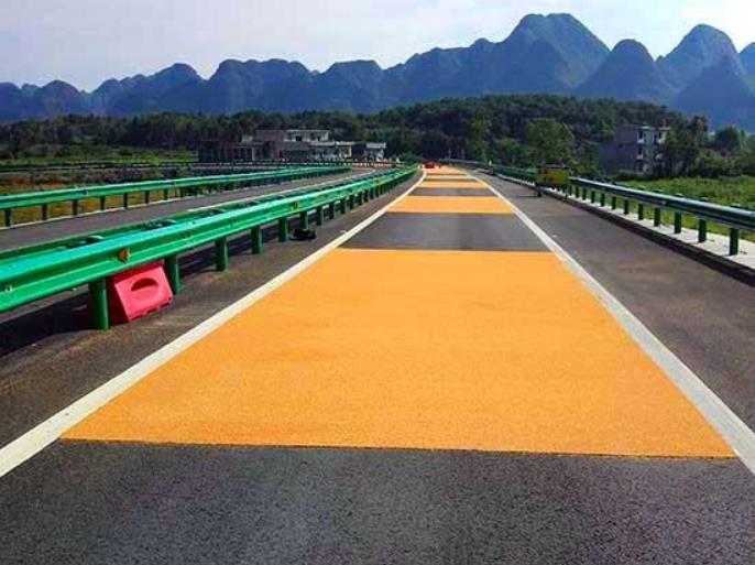 彩色路面之警示作用
