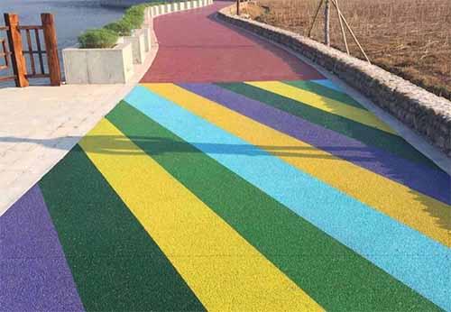 彩色防滑陶瓷颗粒坡道施工工艺