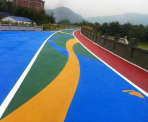 彩色陶瓷颗粒是一种彩色路面铺装材料
