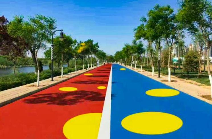 彩色路面的功能
