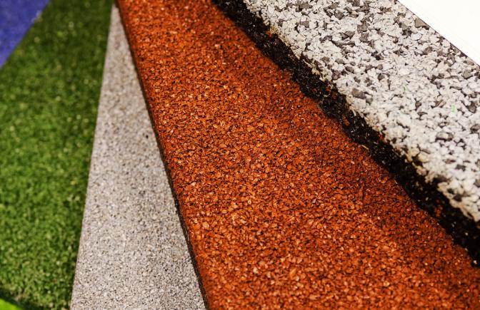 陶瓷彩砂颗粒材料用作透水地坪制作